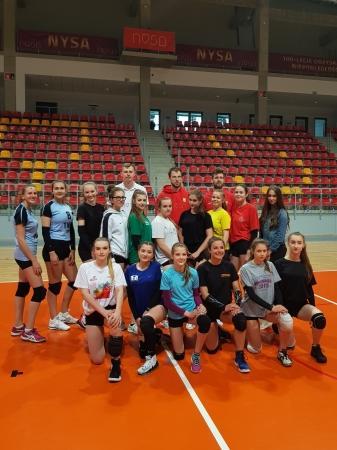 Trening z zawodnikami PWSZ Stal Nysa